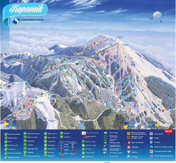 Kopaonik-ski-center-map