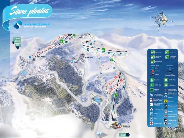 Old-mountain-ski-resort-map