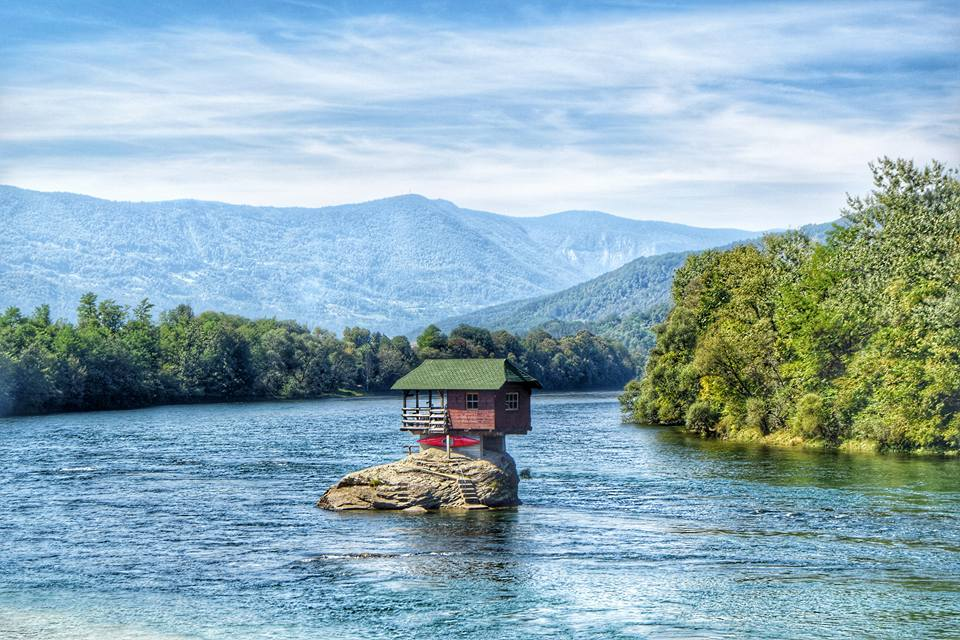 House on the rock - Drina river