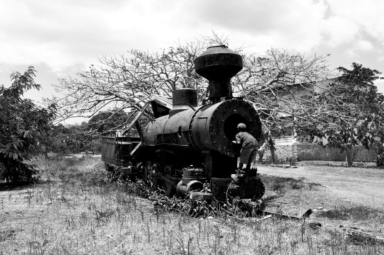 Le garçon et le train