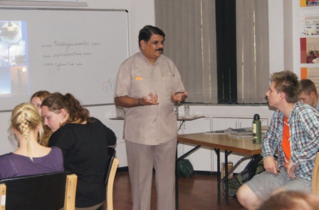 Imparting knowledge to Foreign Students