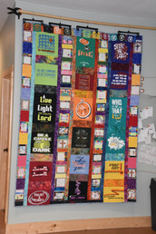 Quilt of camp T-shirts
