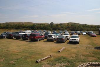 So many cars parked at camp