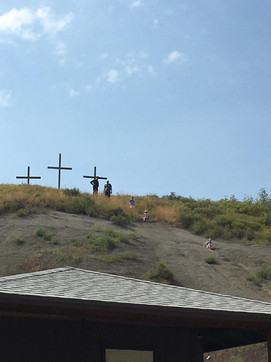 3 Crosses at the top of the hill