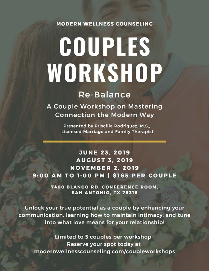 Re-Balance:  A Couple Workshop on Mastering Connection the Modern Way