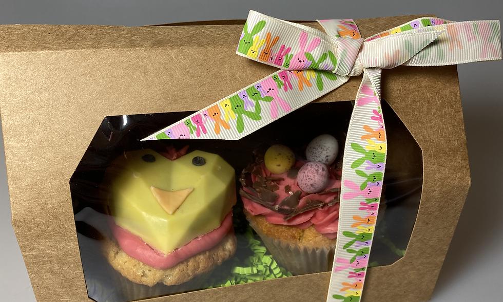 Chick Cupcake Duo