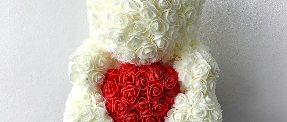 White Rose Teddy Deluxe