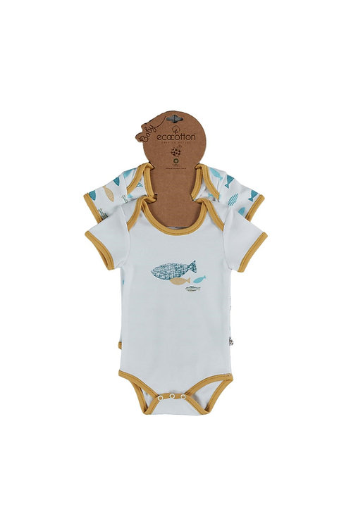 Dodo Onesies Short Sleeve Bodysuit 2pcs