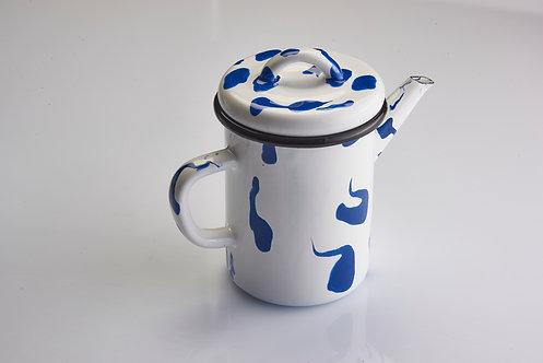 A Little Color Blue Teapot
