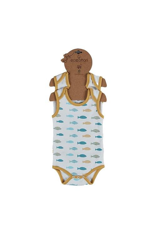 Dodo Onesies Sleeveless Bodysuit 2pcs