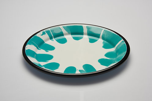 A Little Color Turquoise Green Plate