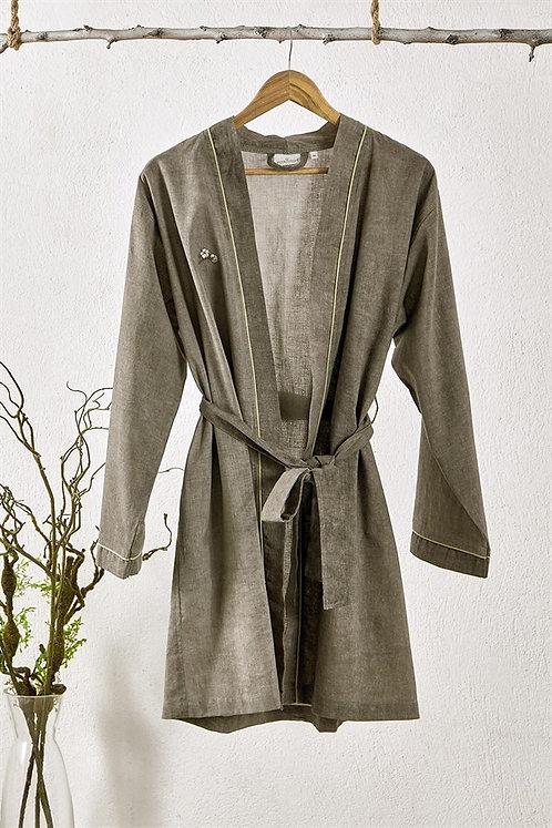 Cotton & Linen Robe (Green Color)