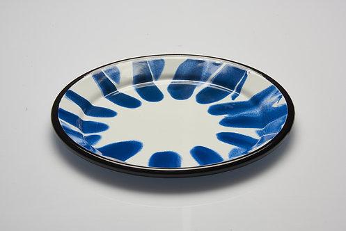 A Little Color Blue Plate