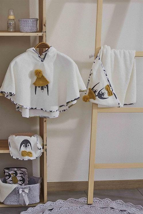 Pingu Poncho Set 4 pcs