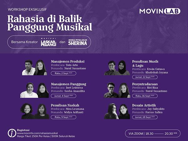 MovinLab Musikal Laskar Pelangi Musikal Petualangan Sherina