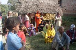 APPL's blanket distribution in 2010-2011 at village Gidhar and Arda, Basti district (U.P