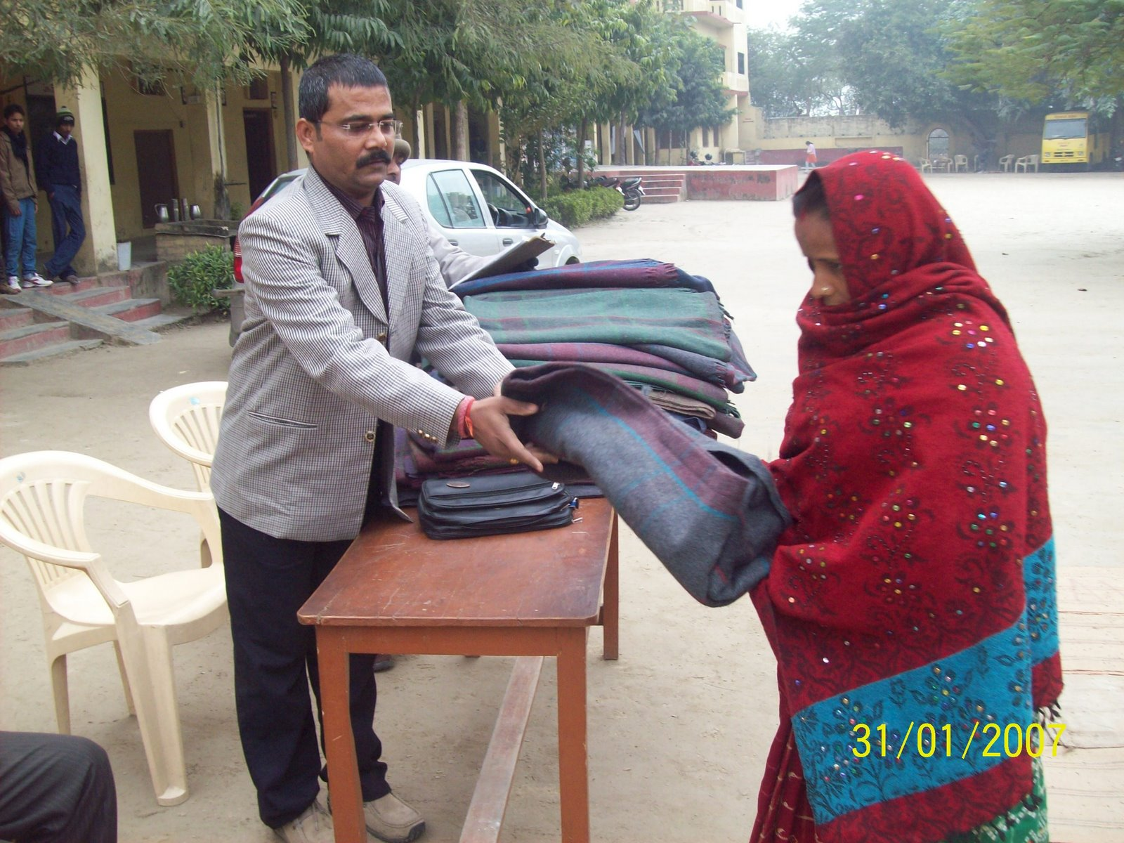 APPL's Blanket Distribution to Mushahar community in 2010-2011 at Kushinagar,(U.P