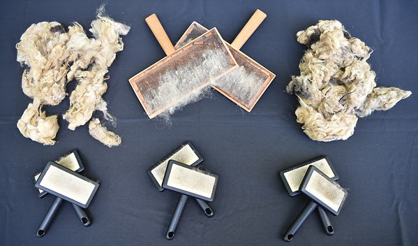 Stages of Carding Wool