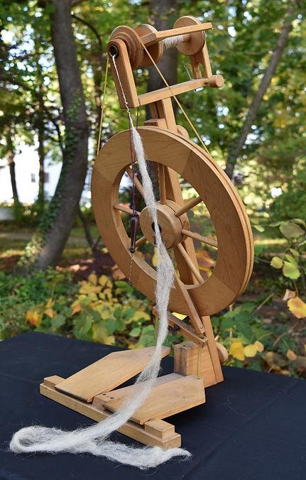 Wool on Spinning Wheel