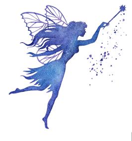 Fairy with Wand Blue