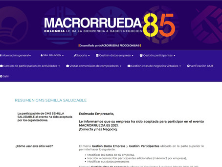 GMS our sister company in Colombia will participate in the Macrorrueda 85
