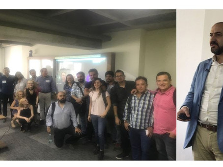 Felipe Buitrago and the team of INCA and GMS meet during the Accelerate Colombia workshop