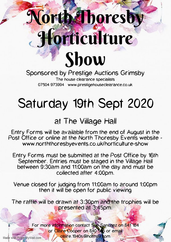 Hort Show poster 2020 - Made with Poster