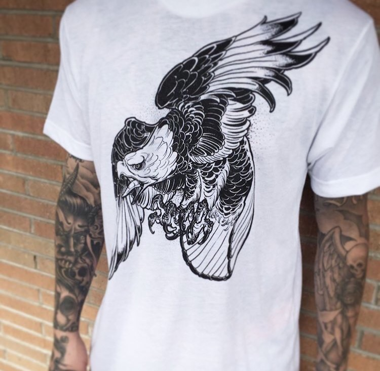 White Lotus Eagle Tee