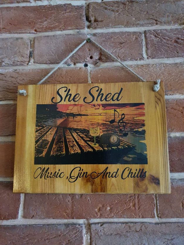 She Shed Hanging Sign | £12