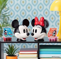 Disney Mickey and Minnie Mouse warmers and matching wax melt bars | Wishawax.Scentsy.co.uk