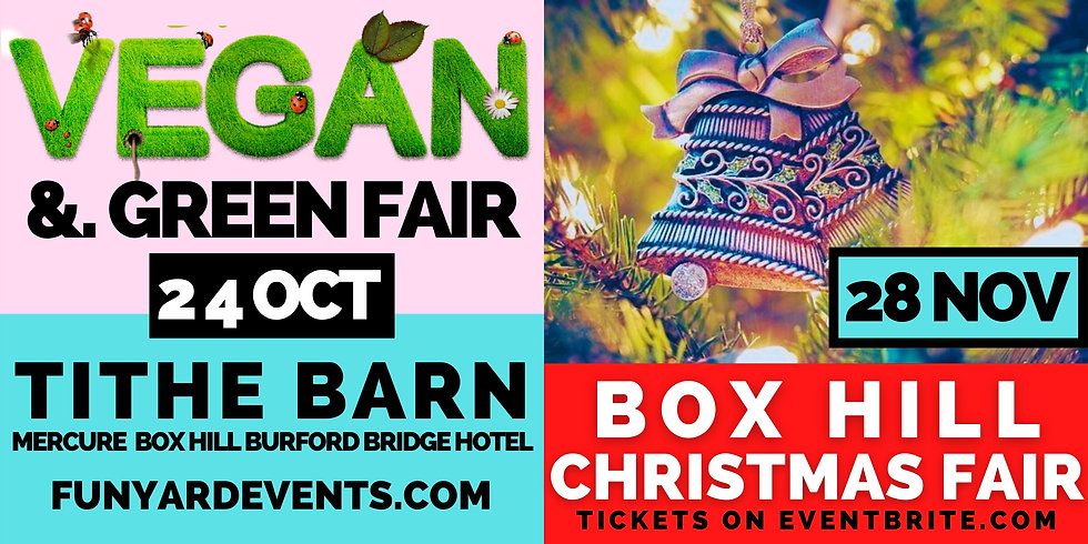 Vegan and Green Fair Dorking Funyard Events Box Hill Christmas Fair Market