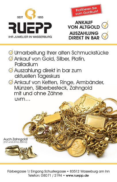 Altgoldankauf Juwelier Ruepp