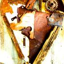 Série coeur en patchwork de rouille