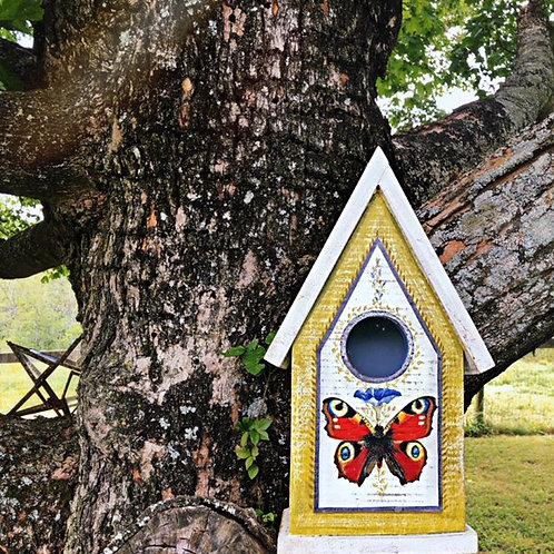 Moth & Morning Glory Birdhouse