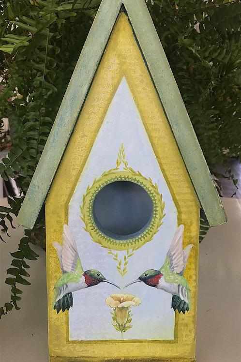 Hummingbird Birdhouse - SOLD