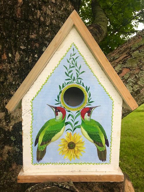 Green Woodpecker & Sunflower Birdhouse