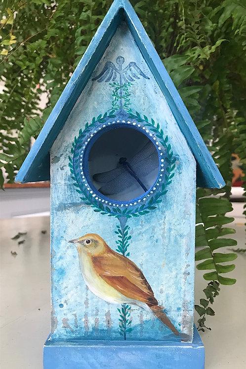 Blue Birds Birdhouse -  SOLD