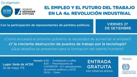 El empleo y el futuro del trabajo en la cuarta revolución industrial