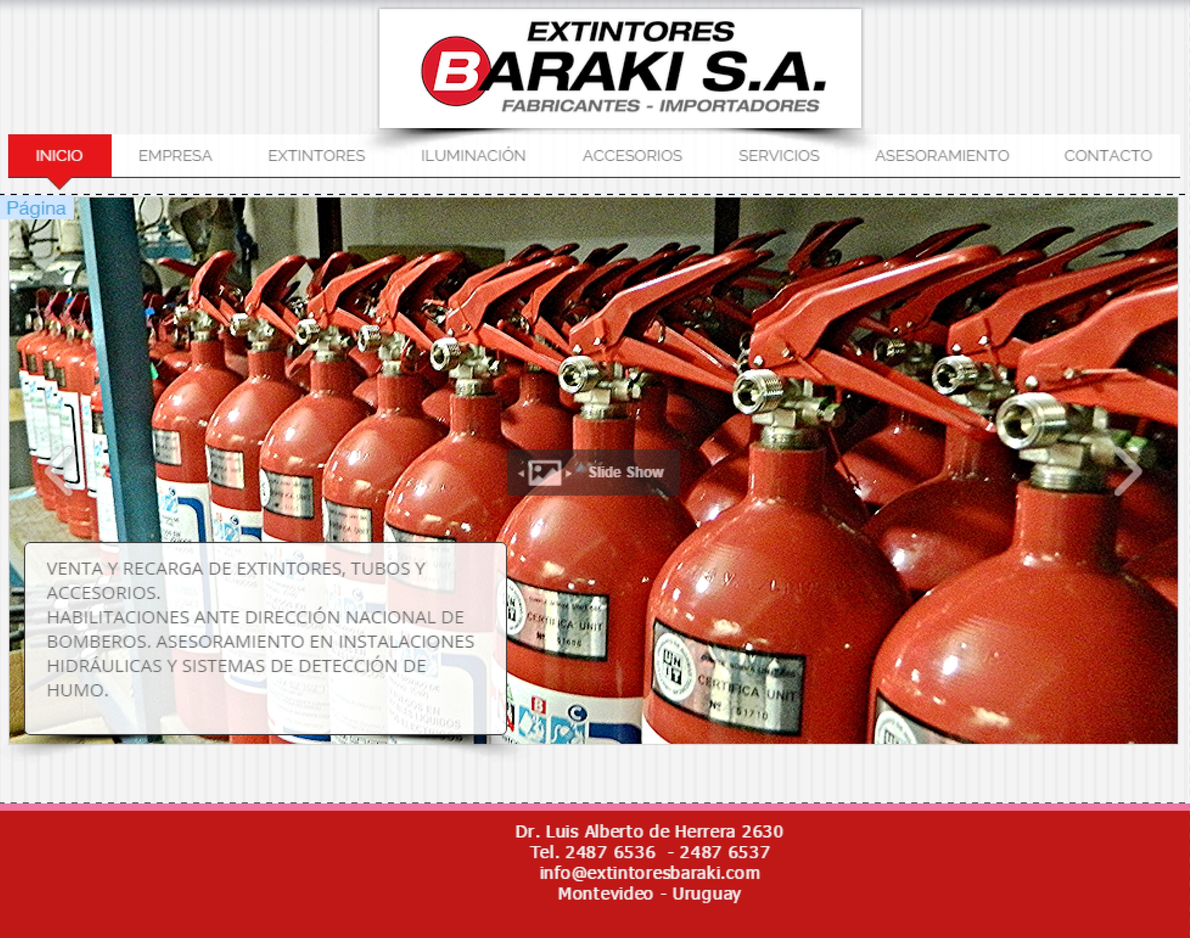 Página web Extintores Baraki