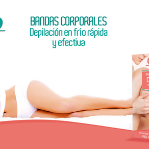 Bandas corporales y faciales para una depilación rápida y efectiva.