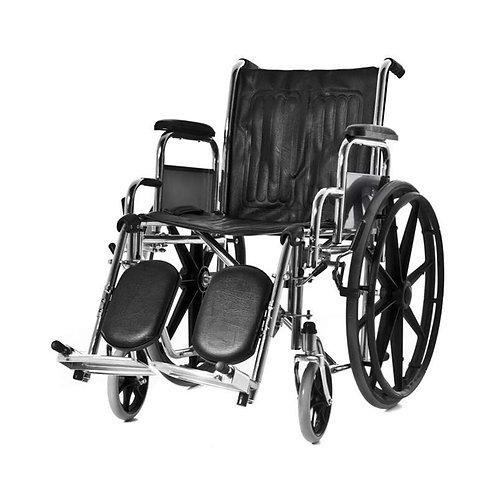 Silla de ruedas con apoya pies elevables