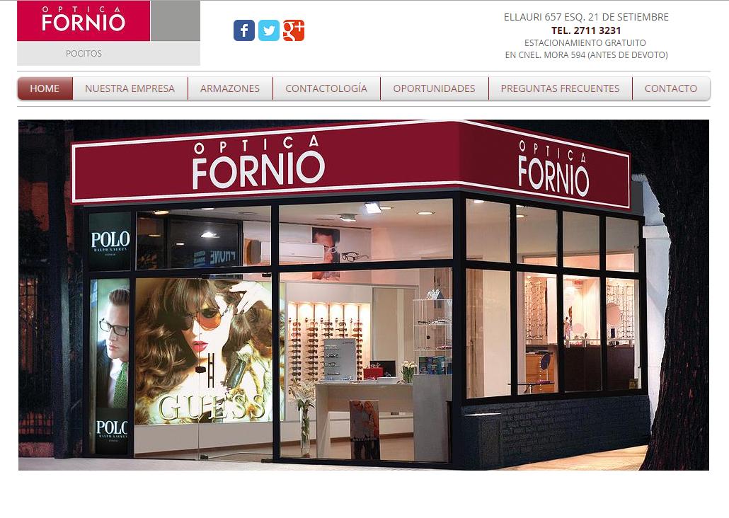 Cliente: Óptica Fornio