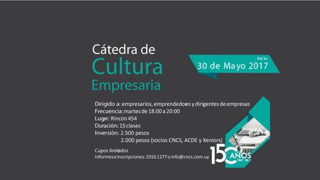 Cátedra de Cultura empresaria