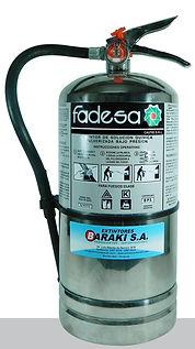 Extintor Baraki para cocinas industriales y hospitales