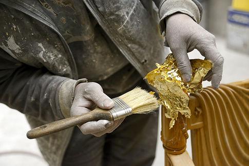 Gold Foil appying desiderio due elegance bathroom