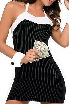 Kort sort business kjole og top