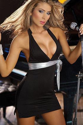 Sort kjole med skulderstrop