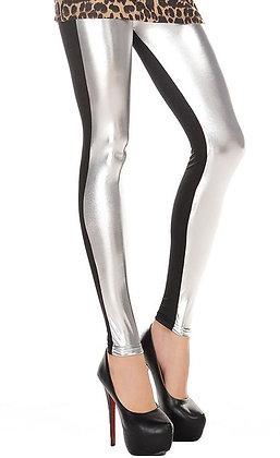 Blanke sølv-sort leggins