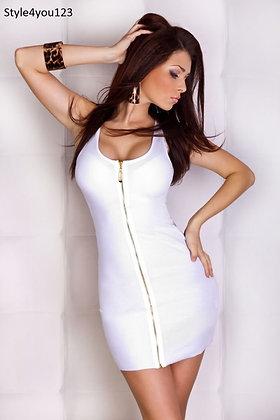 Fin kjole med gennemgående lynlås