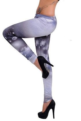 Mode mønstret grå leggins